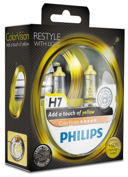 daylights sterreich philips h7 colorvision gelb. Black Bedroom Furniture Sets. Home Design Ideas