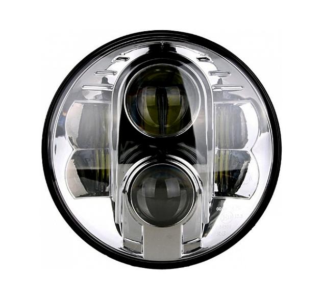 daylights sterreich led scheinwerfer 7 zoll harley chrom. Black Bedroom Furniture Sets. Home Design Ideas
